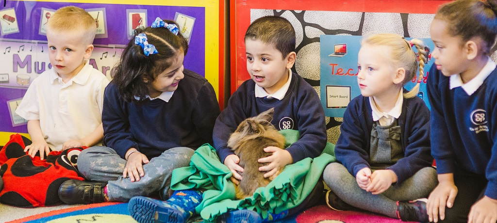 Lolly the rabbit in Nursery